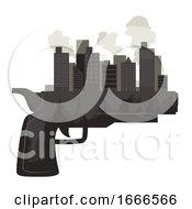 Gun City Smoke Illustration