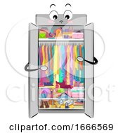 Mascot Closet Full Clutter Illustration