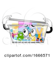 Mascot Container Full Things Illustration