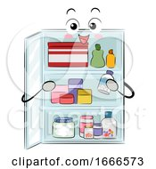 Mascot Medicine Cabinet Organize Illustration
