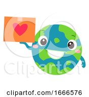 Poster, Art Print Of Earth Donation Mascot Global Package Illustration