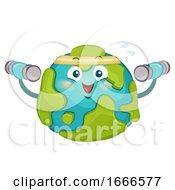 Mascot Big Earth Exercise Illustration