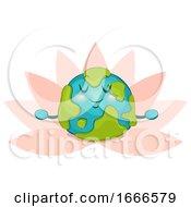 Mascot Big Earth Yoga Illustration