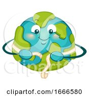 Mascot Earth World Obesity Awareness Illustration