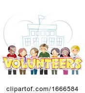 Stickman Parents School Volunteers Illustration