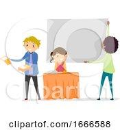 Stickman Teens Recruitment Club Illustration
