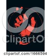Poster, Art Print Of Hand No Sign Stencil Illustration