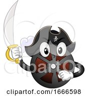 Mascot Film Piracy Illustration