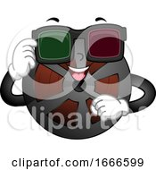 Mascot Film Reel Movie 3D Illustration