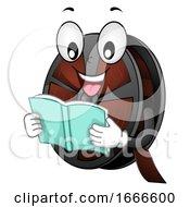 Mascot Film Reel Read Book Illustration