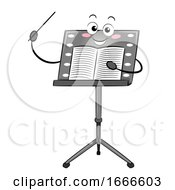 Music Stand Mascot Conductor Stick Sheet