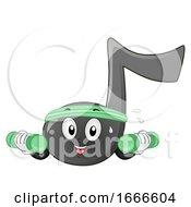 Music Note Mascot Exercise Illustration