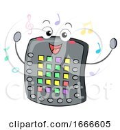 Electronic Drum Pad Mascot Illustration