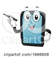 Mascot Tablet Digital Pen Illustration