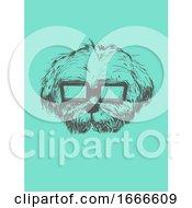 Dog Sketch Sunglasses Illustration