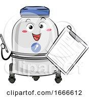 Sperm Bank List Mascot Illustration