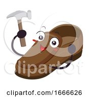 Mascot Shoe Hammer Illustration