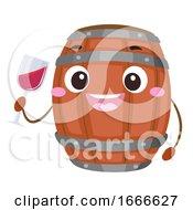 Mascot Wine Fermentation Barrel Illustration