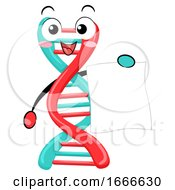 Mascot DNA Test Result Paper Illustration