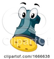 Woodwork Sander Mascot Power Tool Illustration