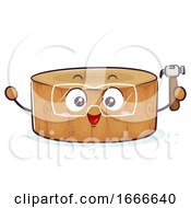 Mascot Nail Hammering Wood Illustration