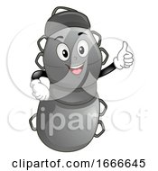 Fitness Dummy Mascot Okay Illustration