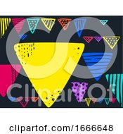 Buntings Design Background Illustration