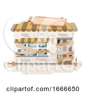 Poster, Art Print Of Abandoned Store Illustration