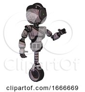 Mech Containing Green Dot Eye Corn Row Plastic Hair And Light Chest Exoshielding And Rubber Chain Sash And Unicycle Wheel Dark Sketchy Interacting