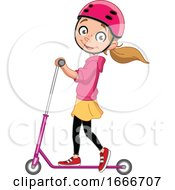 09/07/2019 - Girl Playing With A Scooter
