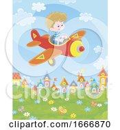 Boy Flying A Plane