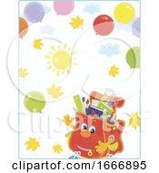 Poster, Art Print Of School Bag Character