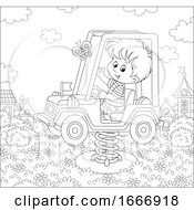 Poster, Art Print Of Boy On A Playground Truck