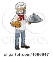 Wildcat Chef Mascot Cartoon Character
