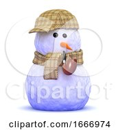 3d Sherlock Snowman