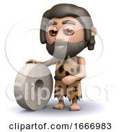 3d Caveman Invents The Wheel