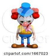 3d Sad Clown