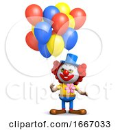 3d Clown Balloons