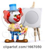 Poster, Art Print Of 3d Clown The Artist