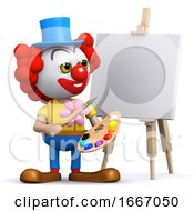 3d Clown The Artist