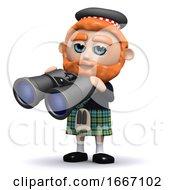 3d Scotsman Uses His Binoculars