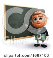 3d Scotsman Teaches At The Blackboard