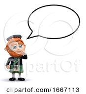 3d Scotsman Speech Bubble
