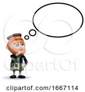 3d Scotsman Thought Bubble