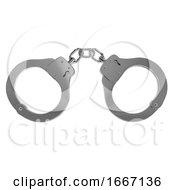 3d Pair Of Handcuffs