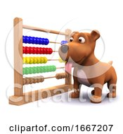 Poster, Art Print Of 3d Puppy Dog And Abacus