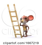 3d Mouse Wants To Climb Ladder