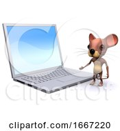 3d Mouse And Laptop