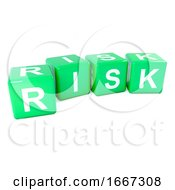Poster, Art Print Of 3d Green Risk Dice