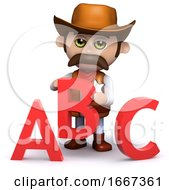 3d Cowboy Sheriff Teaches The Alphabet